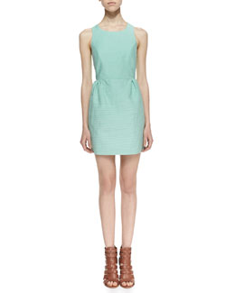 Maison Scotch Summer Shell Embellished Cutout Back Dress, Mint