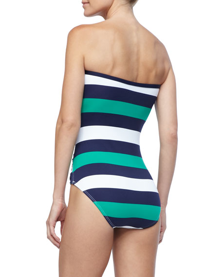 Mare Rugby-Striped One-Piece