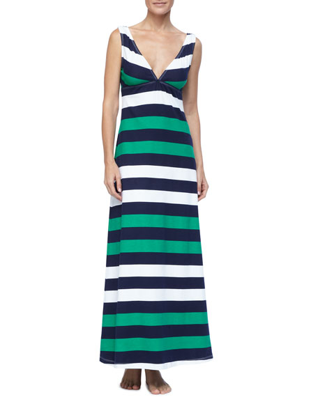 Mare Rugby-Striped Maxi Dress