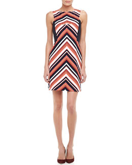 Trina Turk V-Stripe Ponte Dress