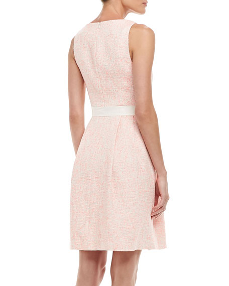 Aime Sleeveless Tweed Dress