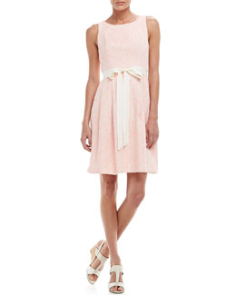 Trina Turk Aime Sleeveless Tweed Dress