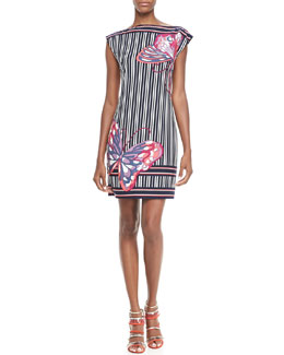 Trina Turk Felana Striped Butterfly Dress