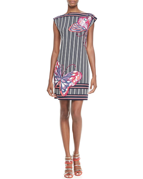 Felana Striped Butterfly Dress