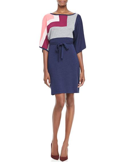 Bonaire Tie-Waist Sweaterdress