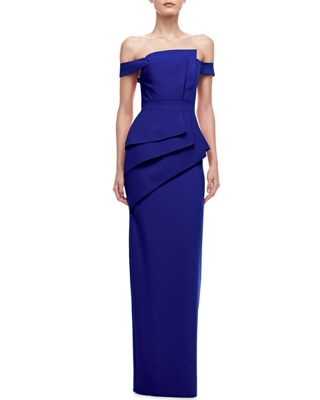 La Reina Off-the-shoulder Gown