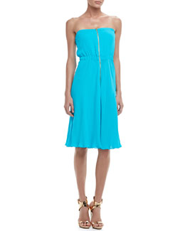 12th Street by Cynthia Vincent Zip-Front Strapless Dress