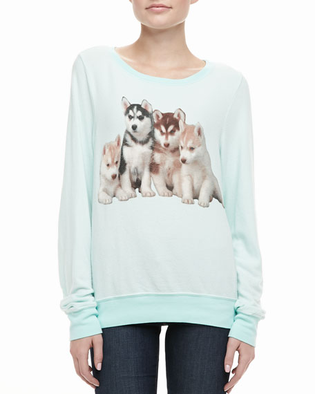 Long-Sleeve Little Huskies Top