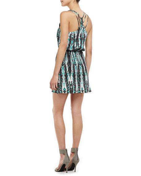 Daria Printed Blouson Dress