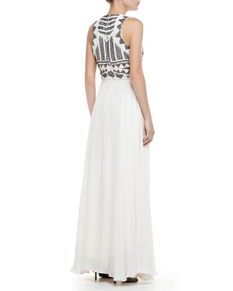 Blakney Beaded-Top Maxi Dress