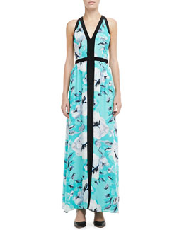 Parker Sina Printed V-Neck Maxi Dress