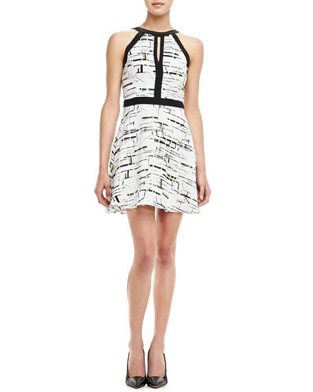 Nika Printed Silk Dress