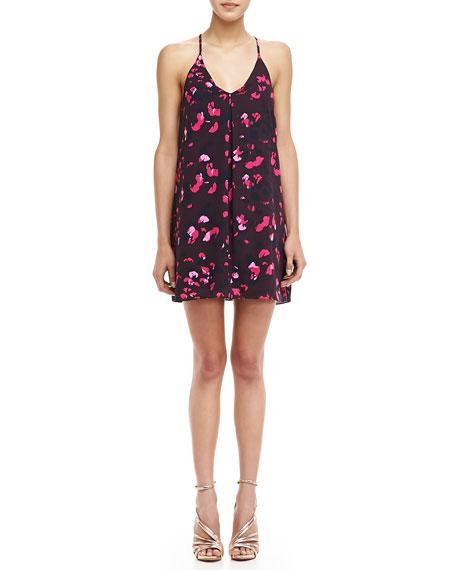 Sleeveless Petal-Print Dress