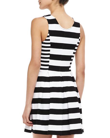 Courtney Striped Zip Dress