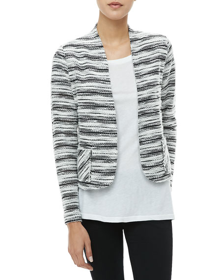 Textured Striped Jacket