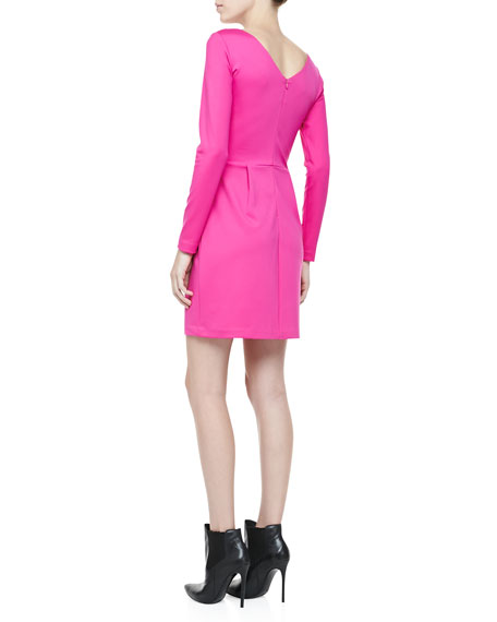 Hilary Long-Sleeve Knit Dress