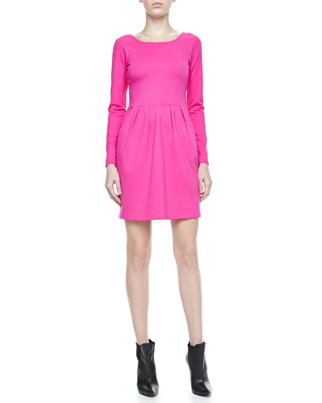 Hilary Long-Sleeve Knit Dress