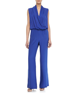 Parker Chase Cross-Front Jumpsuit