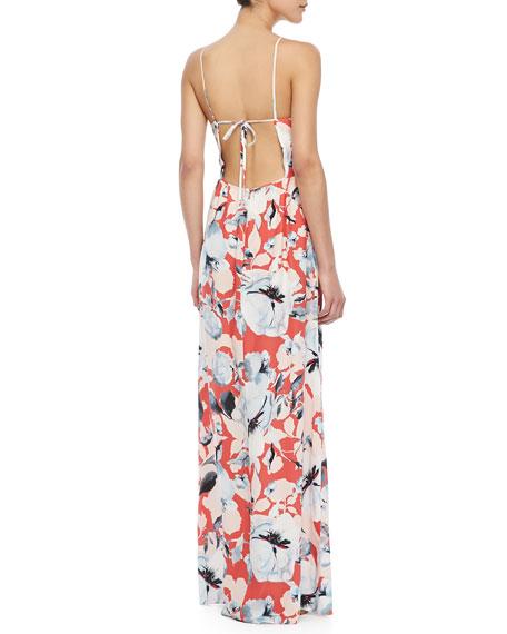 Kisa Floral-Print Maxi Dress
