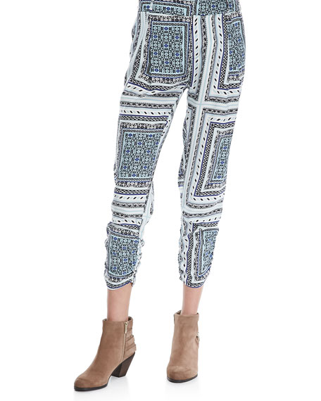 Devlin Printed Cropped Pants