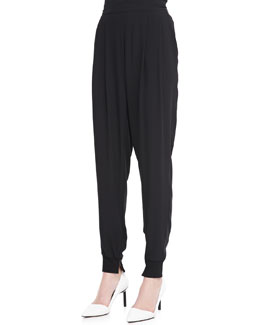 Eileen Fisher Silk Ankle Pants with Cuffs, Women's