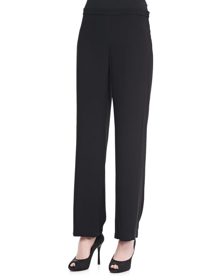 Silk Georgette Crepe Pants, Women's