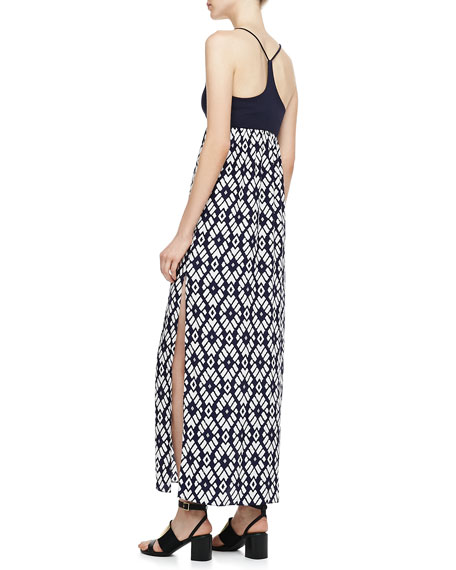 Darrah Printed-Skirt Maxi Dress