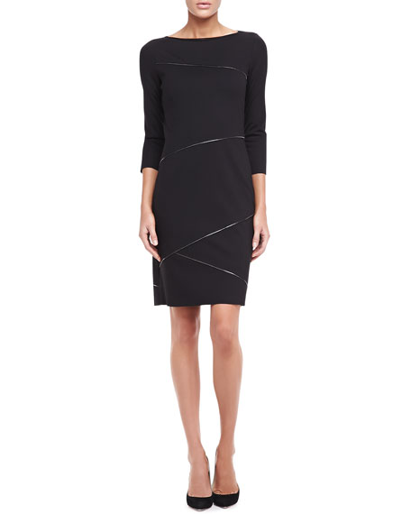 Clarabel Ribbon-Trim Sheath Dress
