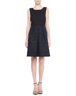Elie Tahari Daisy Sleeveless Pleated Dress