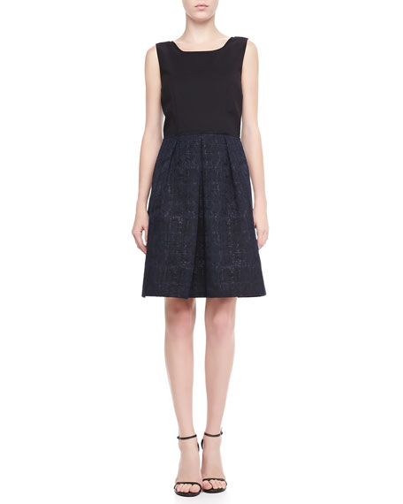 Daisy Sleeveless Pleated Dress