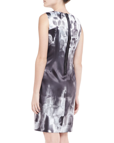 Emory Geometric Print Sheath Dress