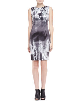 Elie Tahari Emory Geometric Print Sheath Dress