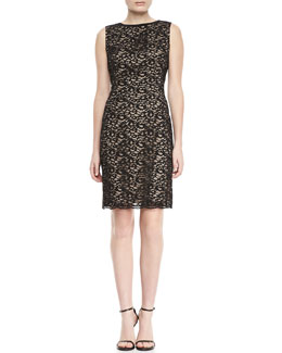 Elie Tahari Holly Lace Sheath Dress