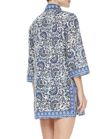 Madura Voile 3/4-Sleeve Tunic Coverup