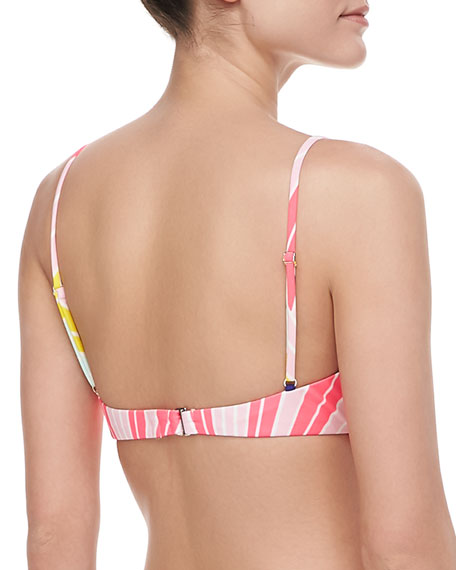 Printed Flutter Bikini Top
