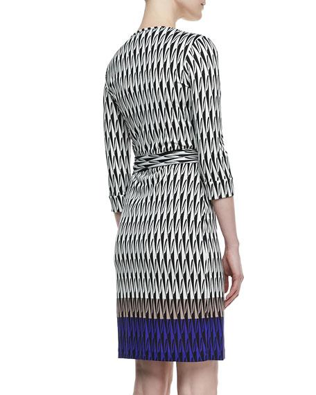 New Julian Two Snake-Print Silk Jersey Dress
