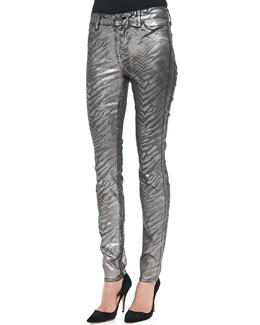 CJ by Cookie Johnson Joy Zebra Metallic Leggings