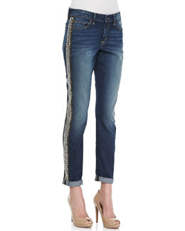 CJ by Cookie Johnson Glory Sequined Boyfriend Jeans