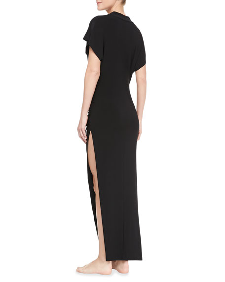 Daphne Cap-Sleeve Maxi Coverup Dress