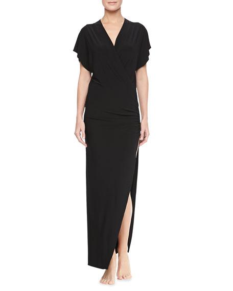 Daphne Cap-Sleeve Maxi Coverup Dress