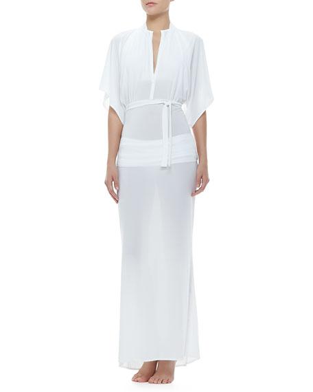 Obie Dolman Short-Sleeve Coverup Gown