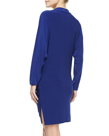 Daphne Long-Sleeve Jersey Coverup Dress