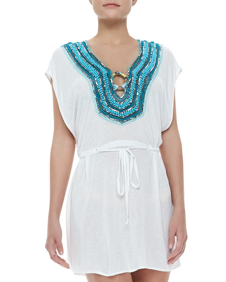 Guadas Bead-Neck Coverup Tunic