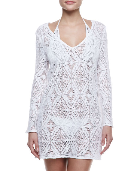 Mykonos Crochet Coverup Tunic