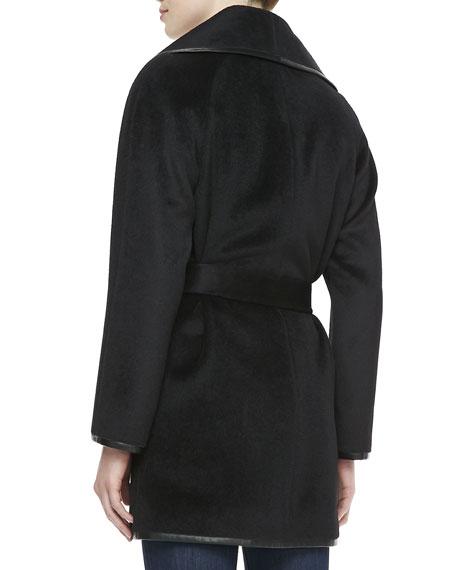 Alpaca-Wool Belted Coat