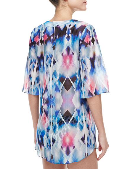 Capella Sheer Printed Coverup Tunic