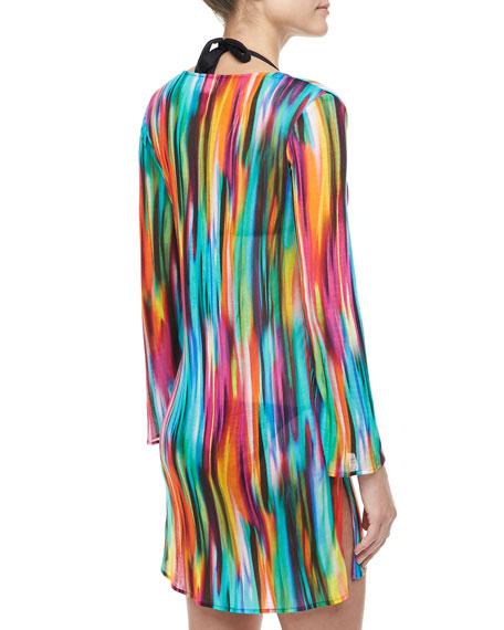Buzios V-Neck Long-Sleeve Tunic