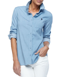 Christopher Blue Nellie Chambray Shirt