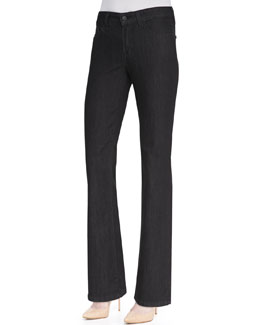 NYDJ Marilyn Dark Enzyme Straight-Leg Jeans