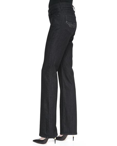 Barbara Dark Enzyme Boot-Cut Jeans